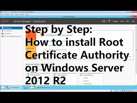 Installing Enterprise Root Certificate Authority in Windows Server 2012 R2