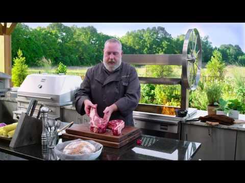 Grilled Bone-in Ribeye Steak on the Gaucho Grill