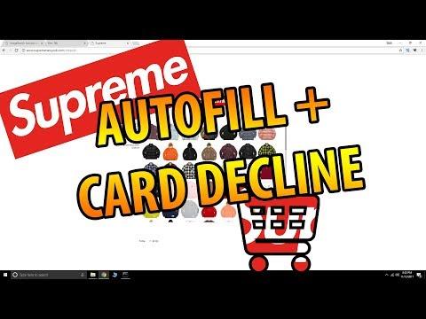 Supreme Card Decline / Autofill FIX!