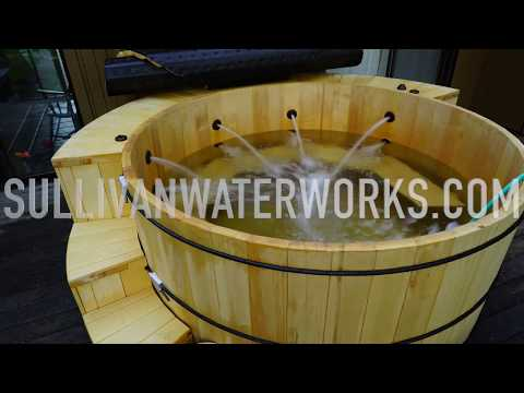 Alaskan Yellow Cedar Wood Hot Tub Build (Cladding/Plumbing Shroud)