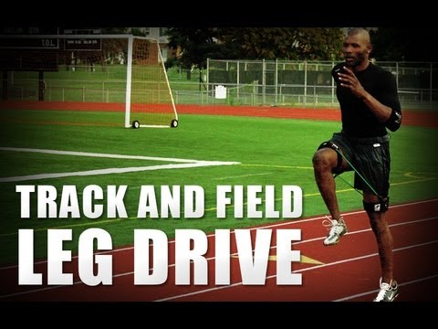 Kbands Track and Field Skip Sequence | Increase Running Speed | Track Leg Resistance Bands