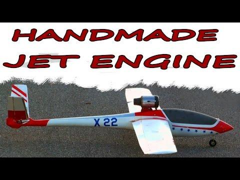 Turbine Glider with Homemade Jet Engine