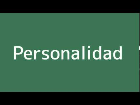 How to say Personality in Spanish