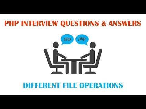 What are Different File Operations in PHP