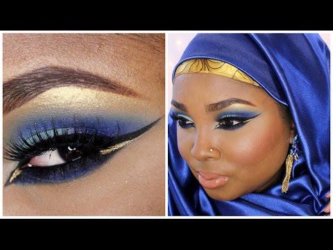 Make up tutorial - Royal blue Eid make up - Requested