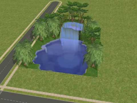 Sims2 How to make a Waterfall