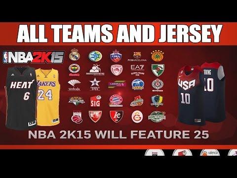 NBA 2K15 - All Teams, Classic teams, Jerseys teams, FIBA teams (Showcase)