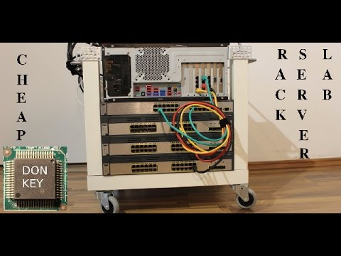 Building an IKEA table-rack mounted lab for virtualization, CCNA-CCNP studies, and ZFS
