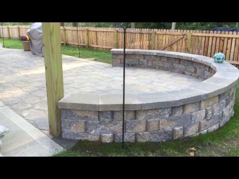 Back yard Landscaping ideas ( Patio with sitting wall )