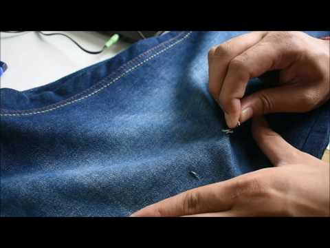 How to make torn,damage,rip denim jeans for girls/boys  easy  in hindi