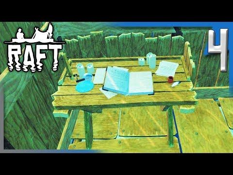 RESEARCHING AT THE RESEARCH TABLE! | Raft Survival Game Gameplay/Let's Play S2E4