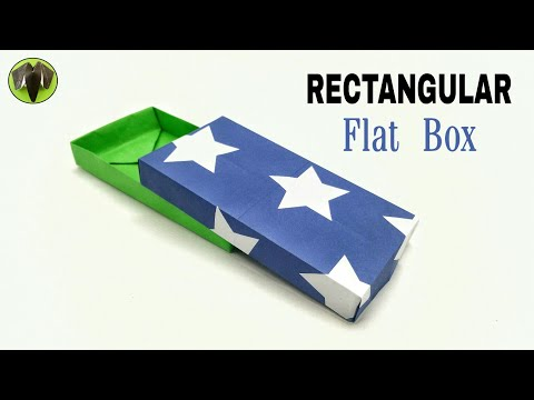 Rectangular Flat Box - Origami | DIY | Tutorial by Paper Folds - 837