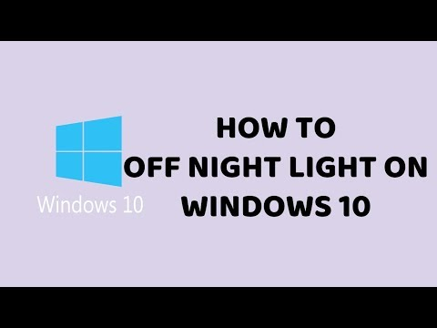 How to Off Night Light on Windows 10   PC & Laptop Easy Tutorials In Hindi