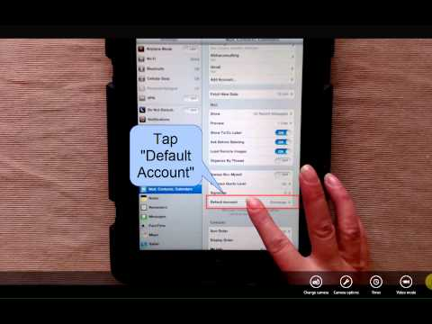 How To Change Default e-Mail Account (iPad)