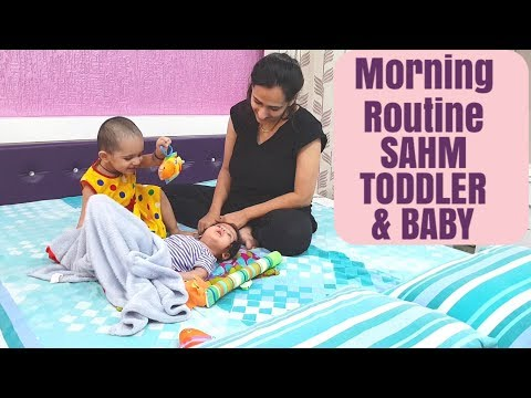 MORNING ROUTINE 2018 SAHM | Toddler and a newborn baby | Indian vlogger | Time management
