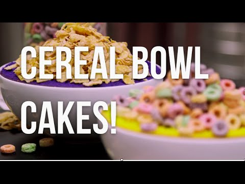 How To Make CEREAL BOWL CAKES! Vibrantly coloured cakes, filled with your favourite cereal!
