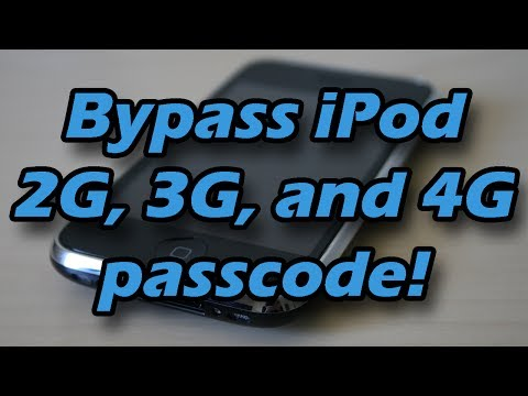 How to bypass Ipod touch's passcode 2g, 3g, and 4g only