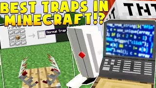 THE BEST TRAPS IN MINECRAFT SECURITY MODDED CHALLENGE! | Minecraft Mod Minigame