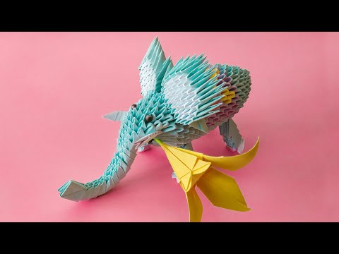3D Origami Elephant Tutorial