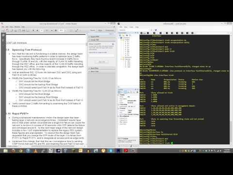 CCNP Switch - Spanning Tree Lab - INE BCMSN Workbook - Part 1