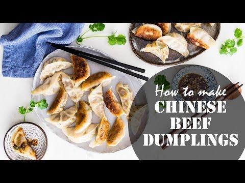 How to Make Chinese Beef Dumplings (recipe) 牛肉饺子