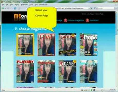 How to create magazine cover with your photo?