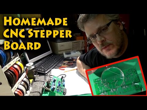 Building a Homemade CNC Stepper Motor Controller Board
