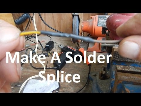 How To Solder Splice 2 Wires Together