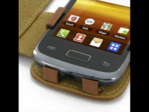 PDair Leather Case for Samsung Galaxy Y Duos GT-S6102 - Book Type (Brown)