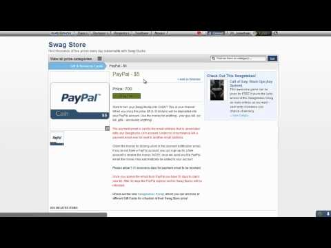 Getting Paypal Money from Swagbucks!