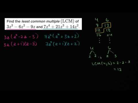 Least common multiple of polynomials | Mathematics III | High School Math | Khan Academy