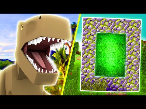 How to Make a Portal to JURASSIC WORLD!! | Minecraft Mods