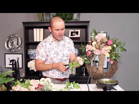 Easy DIY Wreath / Summer  Wreath Tutorial / How To Make A Silk Flower Wreath (2018)