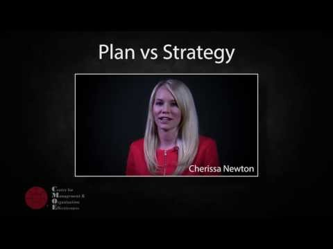 The Differences Between A Plan And A Strategy