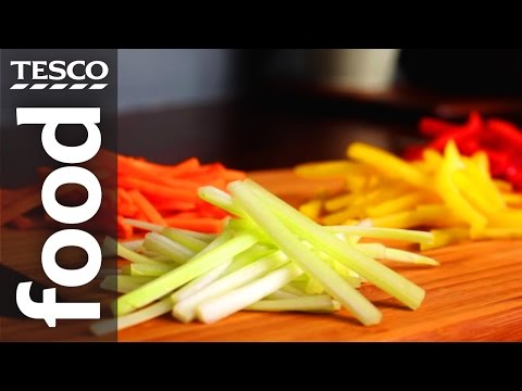 How to Julienne Vegetables | Tesco Food