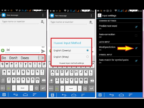 How to off Words Prediction in Android Keyboard