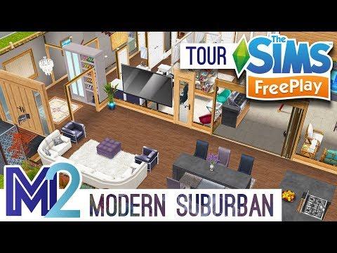 Sims FreePlay - Modern Suburban Family House (Original Design)