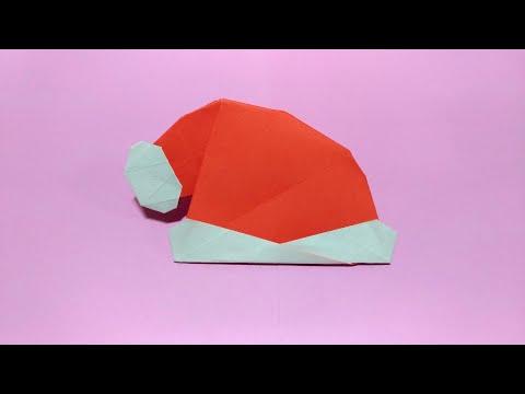 Origami Christmas Hat Tutorial 摺紙聖誕帽教學