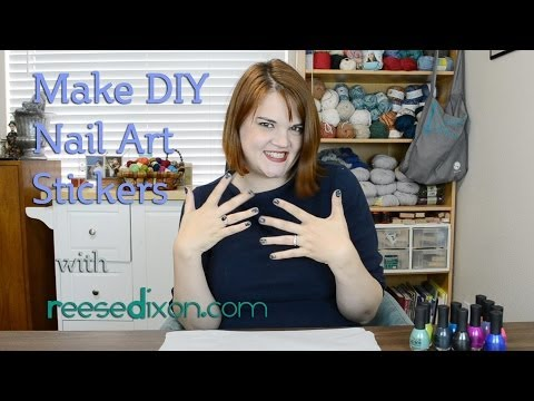 DIY Nail Stickers! Make your own!