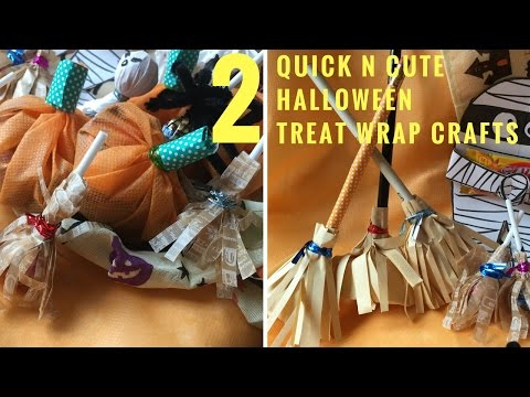 2Easy DIY Halloween Candy/Treat Gift Bags Craftsハロウィーンお菓子袋 萬聖節糖果包裝袋