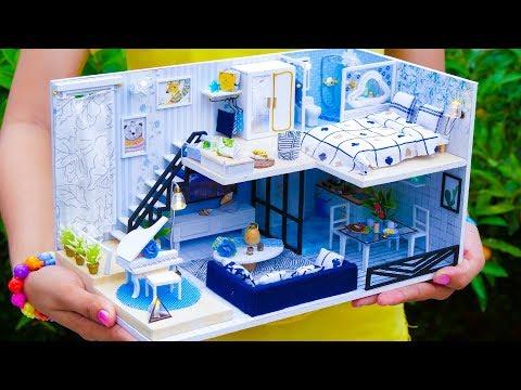 5 DIY Miniature DollHouse Rooms *NEW*
