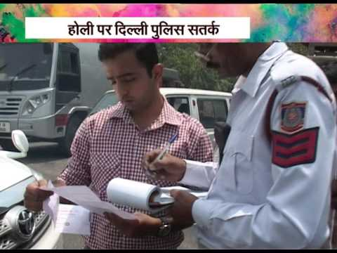 'Traffic Police' gets strict over 'violation of rules' on Holi