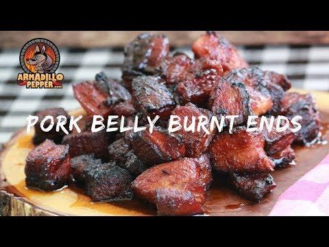 Pork Belly Burnt Ends on Pit Barrel Cooker