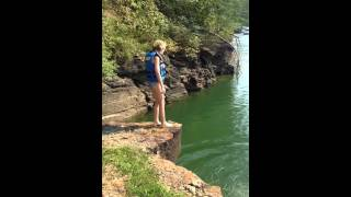Download Ava jumping off cliff @ smith lake!! Video
