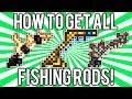 Terraria 1.2.4: All Fishing Poles & Rods Guide! (Golden, Hotline, Fiberglass & MORE!) @demizegg