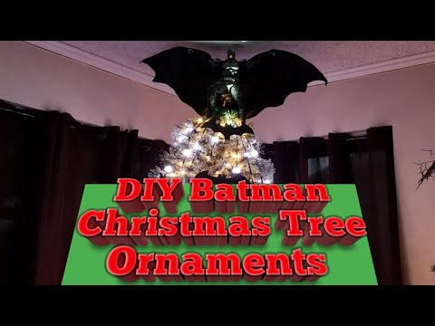 DIY Batman Christmas Tree Ornaments.