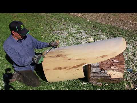 How to make a log chair