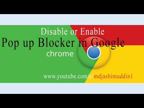 Disable or Enable Pop up Blocker in Google Chrome