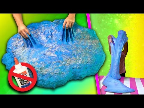 Fluffy Slime without Glue [GIANT SIZE] Mega slime with water! No cornstarch, salt or shampoo