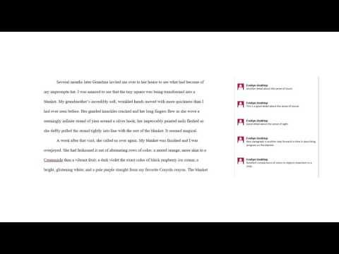 Discussion of a sample descriptive essay